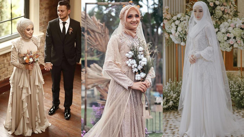 12 Inspirasi Gaun Pengantin Muslimah Bergaya Modern - kumparan.com